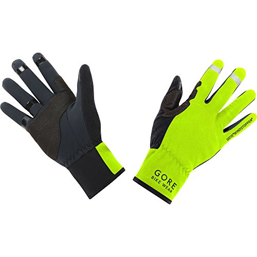 Gore Bike WEAR Unisex Cycling Gloves, Gore Windstopper, Universal Gloves, Size: 7, Neon Yellow/Black, GWSUNI