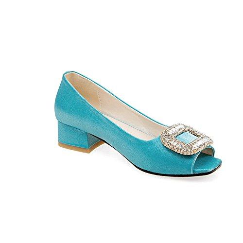 Adee Ladies Slip-Resistant Penny-Loafer Polyurethane Sandals Blue zRtju2MI4