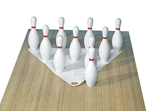 Cosom White Weighted 10 Bowling Pin Set For Youth Party Game, Education, Regulation Height 15