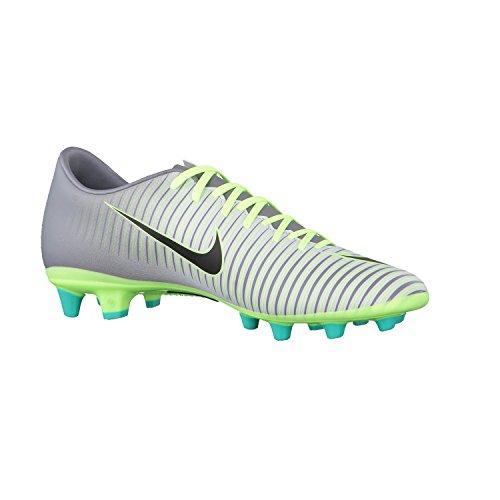 Nike Mercurial Victory Vi Ag-Pro, Botas de Fútbol para Hombre Plateado (Pure Platinum / Black-Ghost Green)