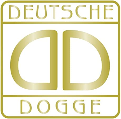 Aufkleber Deutsche Dogge Für Auto Motorrad Anhänger Schilder Fenster Größe 7x7 Cm In Gold Metallic Auto