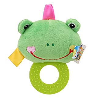 LAIMALA Newborn Infant Animal Soft Rattles Teether Hanging Bell Plush Toys Animal Shape Doll with Tooth Glue Hand Grip Toy for Toddler