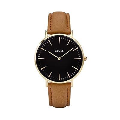 Cluse La Bohème Gold Black/Caramel Womens Leather Watch CL18404