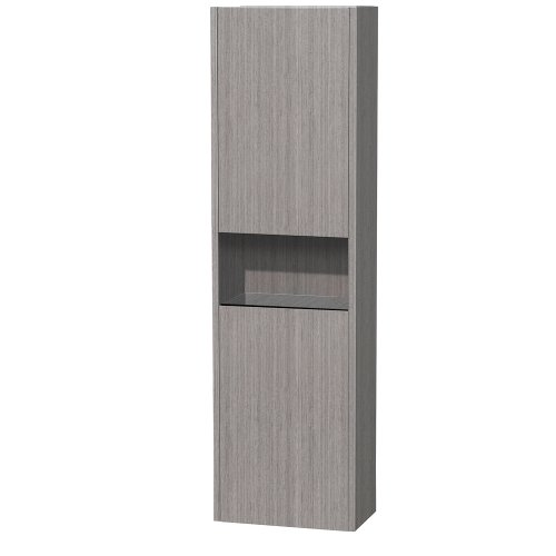 Wyndham Diana Wall-Mounted Bathroom Cabinet in Grey Oak w...