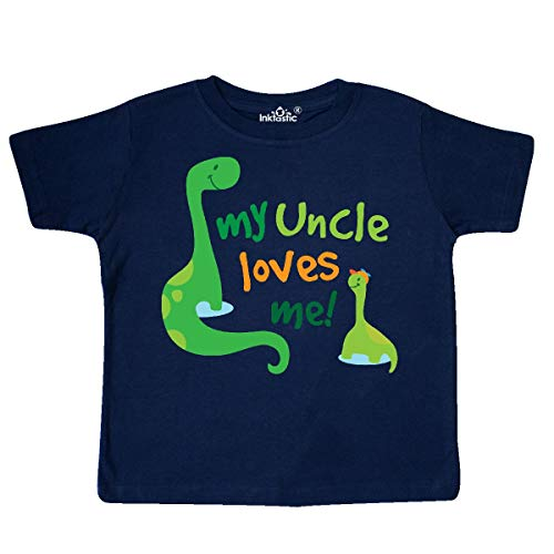 inktastic - My Uncle Loves Me Toddler T-Shirt 3T Navy Blue 19fad