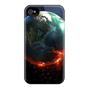 Mwaerke AoXpzXY3799ziozv Protective Case For Iphone 4/4s(knowing Burning Earth)