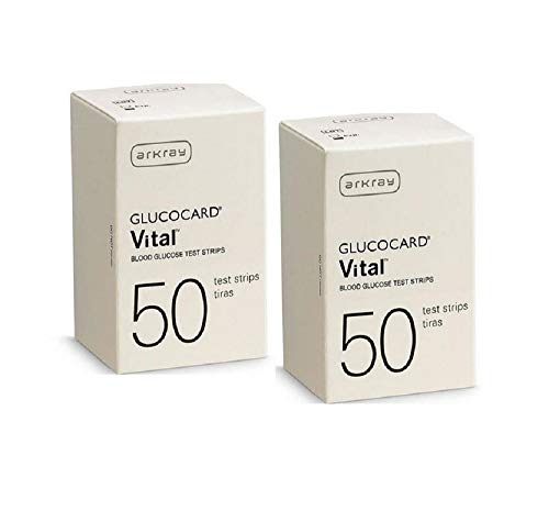 Arkray Glucocard Vital Blood Glucose Test Strips 50 Strips. (Pack of 2) by Glucocard Vital