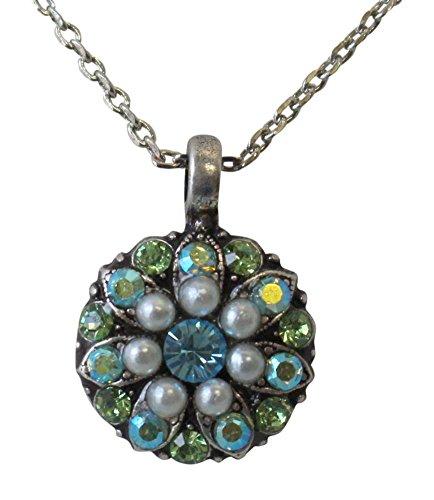 Mariana Guardian Angel Aqua & Light Green Swarovski Crystal Pendant Necklace 84
