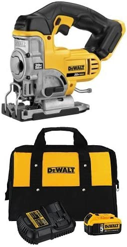 DEWALT 20-Volt MAX Li-Ion Jig Saw with Charger Kit and Bag