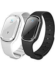 YMKT Smart Ultraljud Mosquito Repellent Armband Rechargeable Ultraljud Anti-Mosquito Intelligent Armband För Vuxna Chil D Baby Utomhus Resor/Camping
