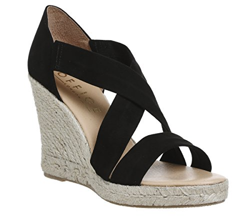 Office Holiday Suede Black Espadrilles Wedge r1fqr