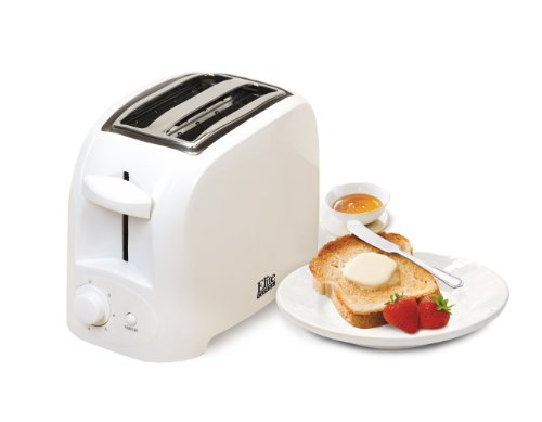 Elite Cuisine ECT-6001 Maxi-Matic 2-Slice Cool Touch Toaster, White (White Compact Toaster Oven compare prices)