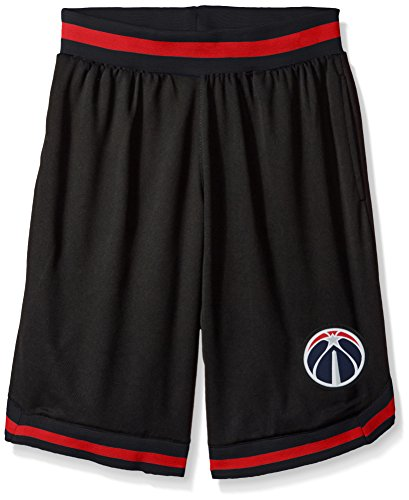 fan products of NBA Men's Washington Wizards Mesh Basketball Shorts Woven Active Basic, Large, Black