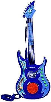 Alfabest - Guitarra eléctrica con luz, color azul: Amazon.es: Juguetes ...