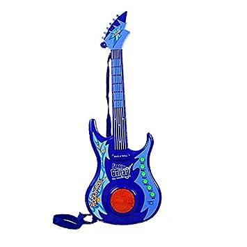 Alfabest - Guitarra eléctrica con luz, color azul: Amazon.es: Juguetes y juegos