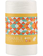 100 hojas Pañales Lavables de Bambú – Pañal de Tela Reutilizables Ecológicos sin perfume trazadores de líneas, Pañales de tela súper absorbente