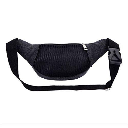 New Waist Bag Casual Packs Unisex Belt Men Women Travel Canvas Waist Bags Bolso Cintura Messenger Bags Black