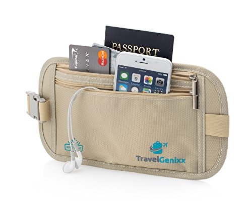Money Belt Waist Pack and Passport Holder Travel Accessory for Men and Women (Train Ticket Pouch)