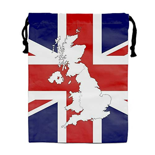 UK Flag And Outline Map Party Favors Bags Gift Candy Drawstring Pouch]()