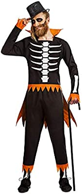 Disfraz de Esqueleto Calabaza para Hombre: Amazon.es: Juguetes y ...