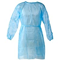 Personal Touch Universal Size Blue Disposable Isolation Gowns Pack of 10