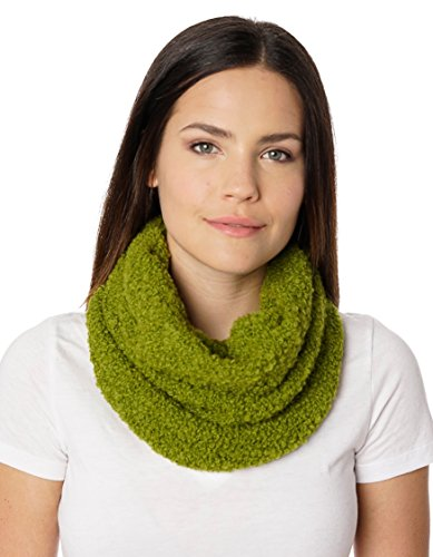 Invisible World Women's Pure 100% Baby Alpaca Chunky Scarf Neck Gaiter Green (Pure Baby Alpaca)