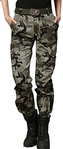 XQS Women's Casual Outdoor Military Camouflage Cargo Pant...