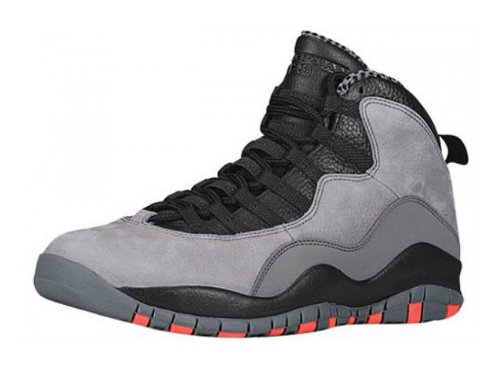 the best attitude bd950 899ed Nike Men's Air Jordan Retro 10, COOL GREY/INFRARED-BLACK, 8.5 M US -  FrenzyStyle