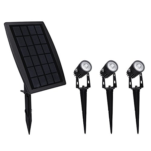 Solar Spotlights, Findyouled 2-in-1 Waterproof Outdoor Landscape Lighting Spotlight Wall Light Auto On/Off