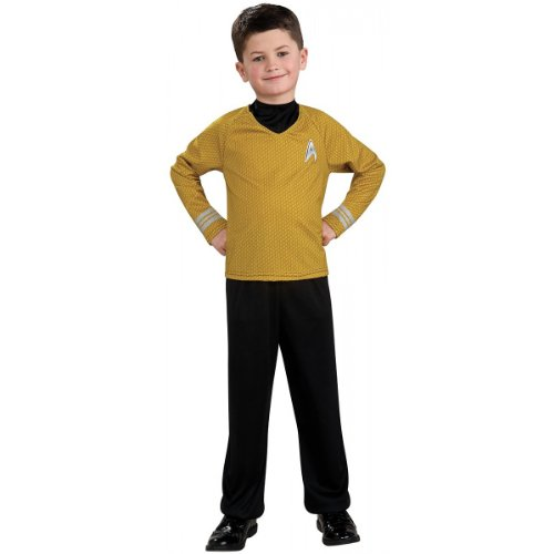 Star Trek Captain Kirk Action Suit Set Costume, Child Size 8 to 10