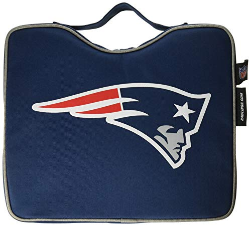 (NFL Lightweight Stadium Bleacher Seat Cushion with Carrying Strap, New England Patriots)