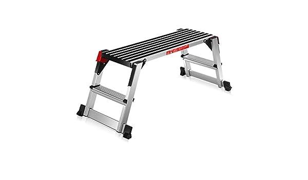 COSTWAY Plataforma de Trabajo Multiusos de Aluminio Carga hasta 150KG Escalera Plegable para Hogar Oficina Taller: Amazon.es: Hogar
