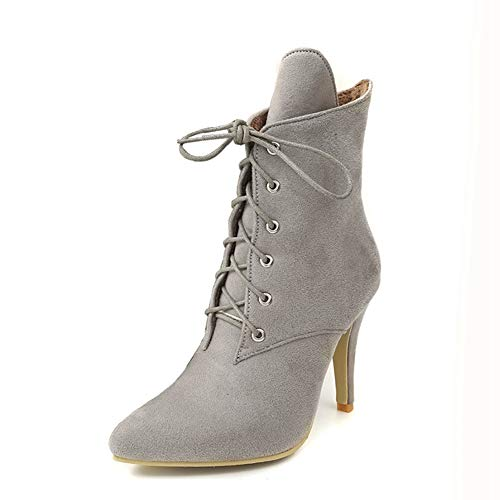- T-JULY Print Mid Calf for Women Boots Lace Up Pointed Toe High Heels Ladies Short Winter Boots Zipper Fashion Shoes