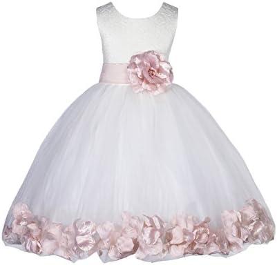 ekidsbridal Floral Petals Christening Dresses