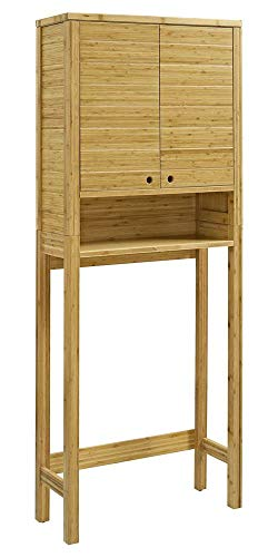 Linon Space Saver Cabinet in Natural - Linon Bamboo