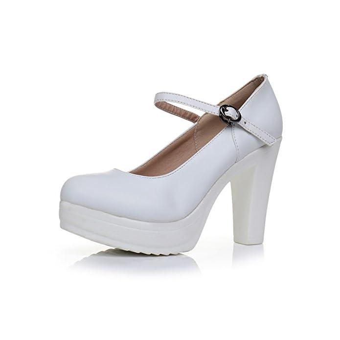 Gtvernh-passeggiata Mostra Modello Di Scarpe Cheongsam Da Donna Bianca Single Tacco Alto 10cm 37