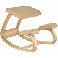 Forkwin Kneeling Chair Ergonomics Wooden Ergonomic Kneeling Chair with Capacity 176LB Kneeling Chair for Office and Home Use