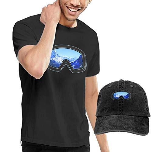 Goldsmith Sally Ski Goggles Blue Men's Short Sleeve T-Shirt and Hat ()
