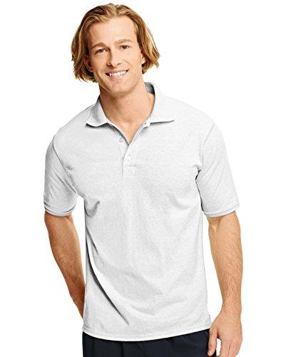 Hanes X-Temp® Men's Polo: White, XL
