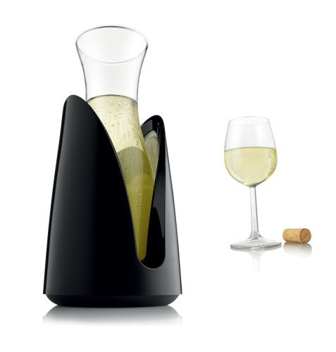 Vacu Vin Tabletop Serving Carafe with Cooler - Black