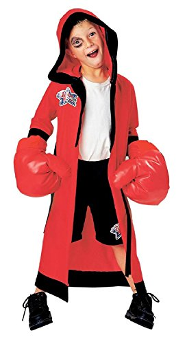 Baoer LIL CHAMP BOXER HALLOWEEN COSTUME DRESS UP WITH INFLATABLE GLOVES SMALL 4 - 6