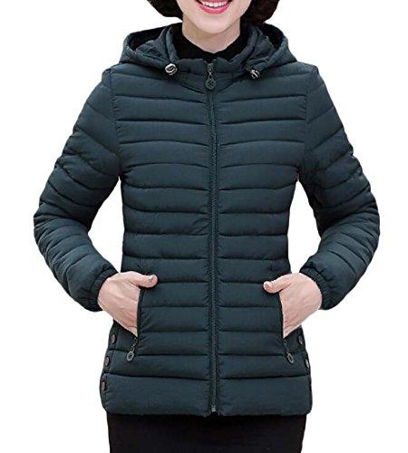 Leisure Suits For Sale - Zimaes Women Hood Plus Size Simplicity Leisure Snowsuit Cotton Padded Green 4XL