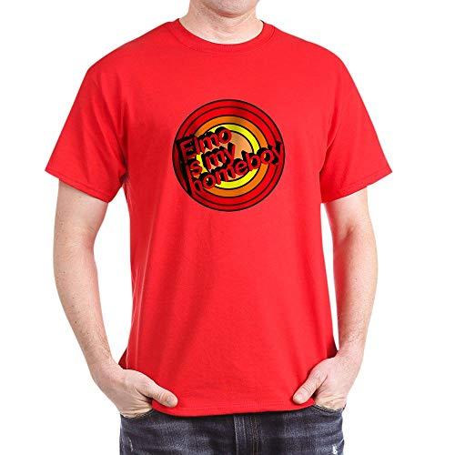 CafePress Elmo is My Homeboy Dark T Shirt 100% Cotton T-Shirt - Personalized T-shirt Birthday Elmo