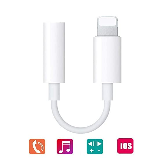 pretty nice f78f7 8aa34 Coreykin 3.5mm Headphone Jack Adapter, Connector for iPhone Xs/Xs  Max/XR/iPhone 8/8 Plus/X (10) / 7/7 Plus, iPad and More, Music Control &  Calling ...