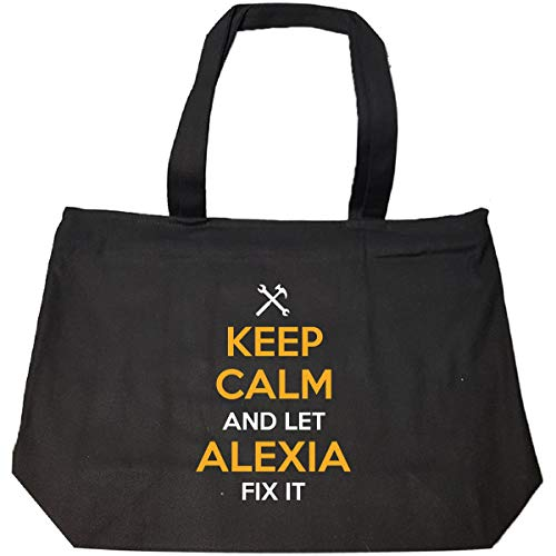 Keep Calm And Let Alexia Fix It Cool Gift - Tote Bag With Zip