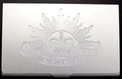 AUSTRALIAN ARMY Engraved Business ID Credit Card Case Patch Holder Gift - Cards Gift Australian