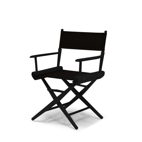 Telescope Casual World Famous Dining Height Director Chair, Black with Black Frame