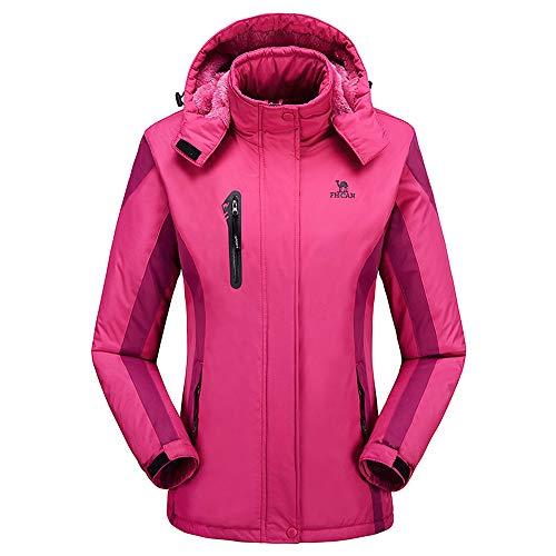 rimovibile cappotti cashmere in 2018 Cappellino 2018 invernali sportivo donna Giacche nere Rosa donna per Hot party Cappotti da da Cappuccio Capa ispessimento da esterno HnZ64wqnxX