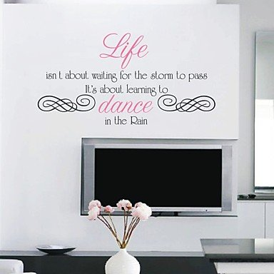 Inspiration Dancing In The Rain Quotes Wall Sticker Amazoncouk