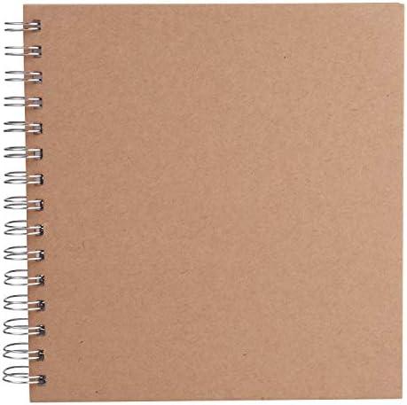 VBS Ringbuch-Album 20x20cm 30 Blatt Blanko stabil Karton-Deckel